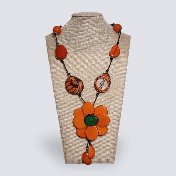 Collana Fiore arancione
