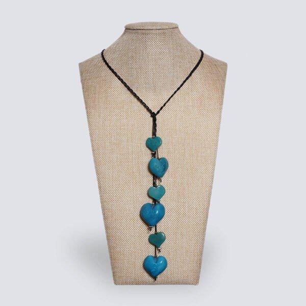 Collana Nodo d'Amore azzurra