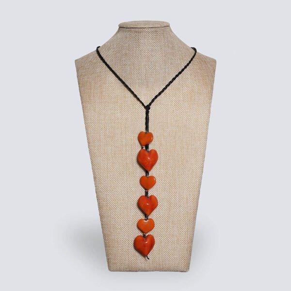 Collana Nodo d'Amore arancione