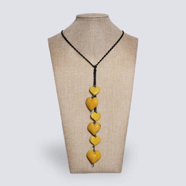 Collana Nodo d'Amore giallo