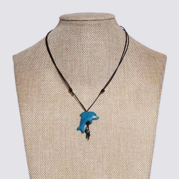 Girocollo animaletti Tagua colorata delfino azzurro