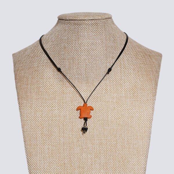 Girocollo animaletti Tagua colorata tartaruga arancione