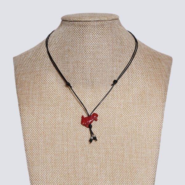 Girocollo animaletti Tagua colorata cagnolino rosso