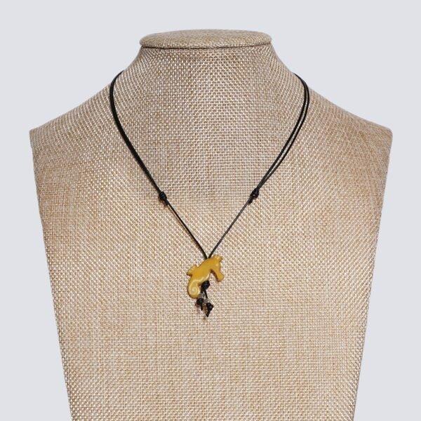 Girocollo animaletti Tagua colorata cavalluccio marino giallo