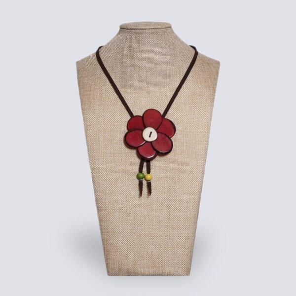 Collana Margherita rosso