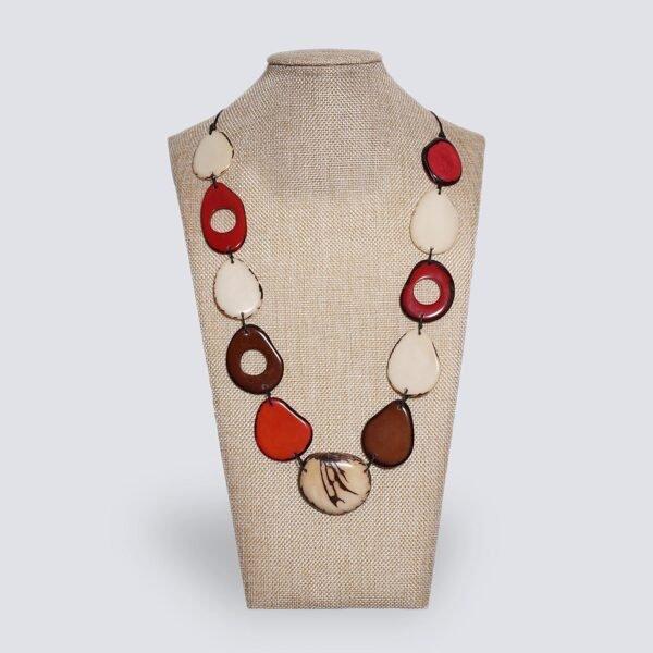 Collana Fogliage rosso